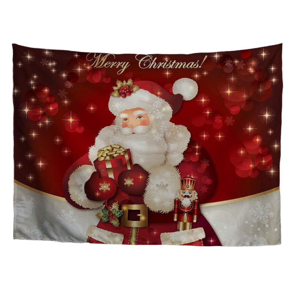 Buy Hugs Idea Tapestry Christmas Eve Festive Holiday Theme Wall Hanging Santa Claus Design Tapestries Party Decoration Home Decor Wall Blanket Online At Low Prices In India Amazon In
