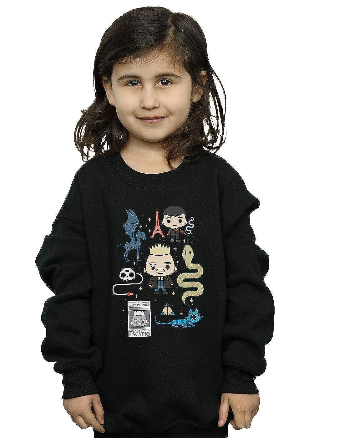 Absolute Cult Fantastic Beasts 2 Girls Chibi Grindelwald Sweatshirt