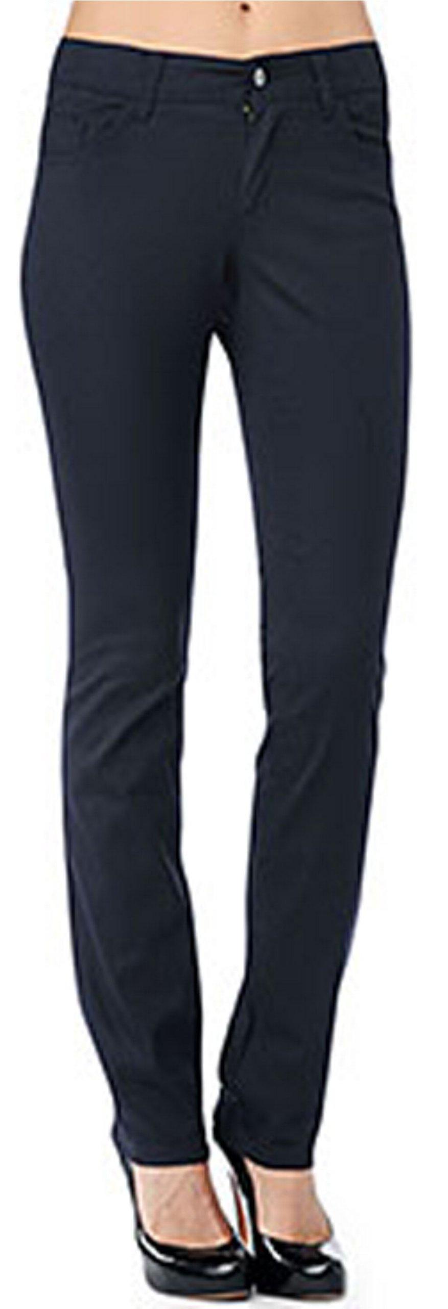 Dickies Girl Junior's Classic 5 Pocket Skinny Pant, Navy, 13