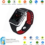 Smart Watch,SUNETLINK Anti-lost Touch Screen Bluetooth Smart Watch with Camera,Cell Phone Watch with Sim Card Slot,Smart Wrist Watch Compatible with Android Phones IOS Samsung for Kids Men Women