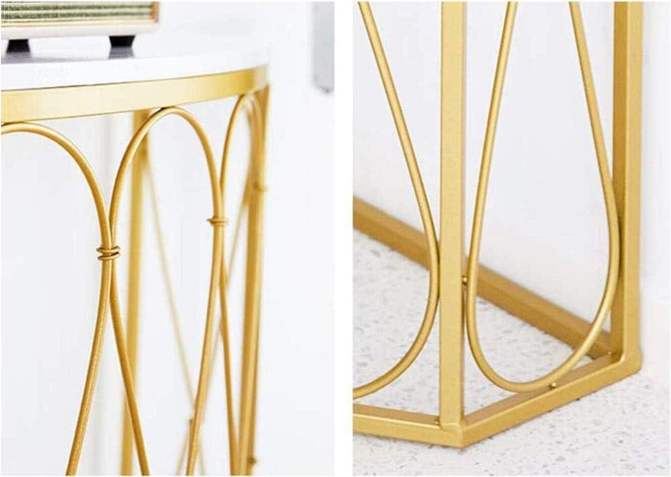 S Tavolo consolle Half Moon Hall moderno in legno di metallo scrivania nera tavolino da caff/è dorato scaffale decorativo per libri utilizzato in soggiorno//camera da letto//corridoio