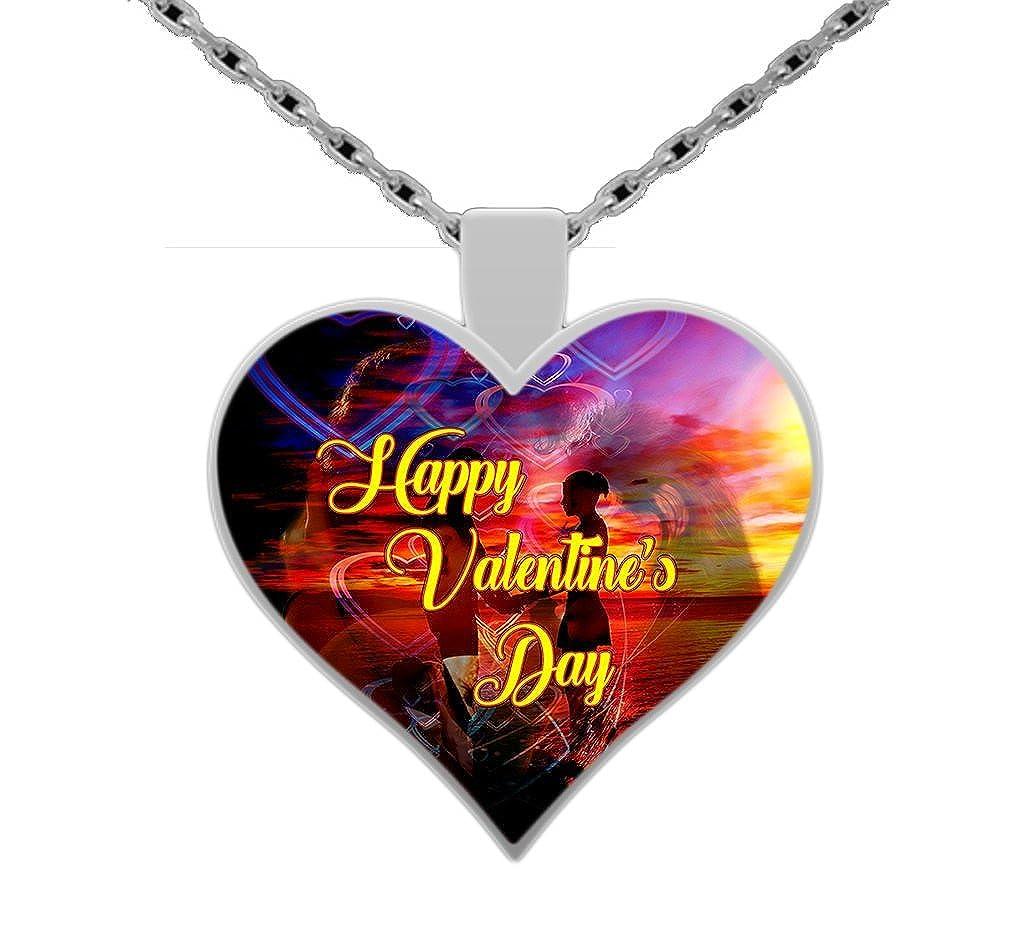 Valentine Silver A Sunset Valentine Necklace