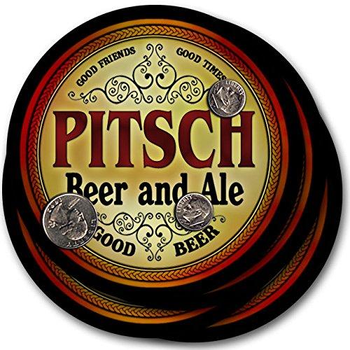 Pitschビール& Ale – 4パックドリンクコースター   B003QXQX0Y