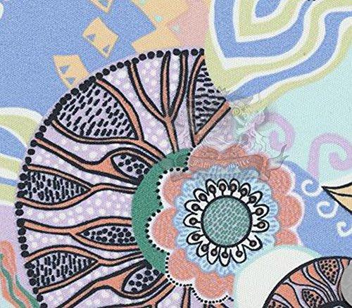 Waterproof Fabric Printed Indoor/Outdoor Kaleidoscope Rose / 54