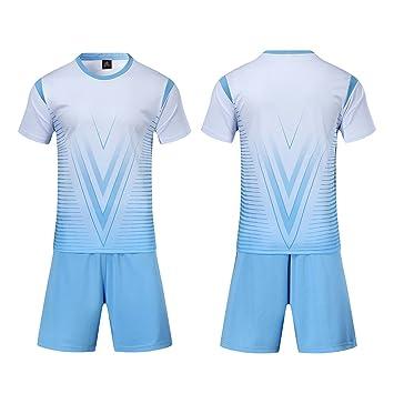 Lixada Set de Camisetas de fútbol Profesional para Adultos/Niños Set de fútbol Respirable Set de Camisetas de fútbol para niños Uniforme de fútbol Camiseta ...