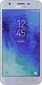 Samsung Galaxy J3 2018 (16GB) J337A - 5.0in HD Display, Android 8.0, 4G LTE AT&T Unlocked GSM Smartphone (Blue/Silver) (Renewed)
