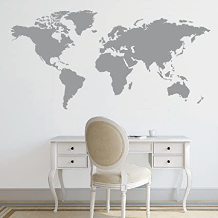 Battoo world map decal large world map vinyl wall sticker world map battoo world map decal large world map vinyl wall sticker world map wall d publicscrutiny Images