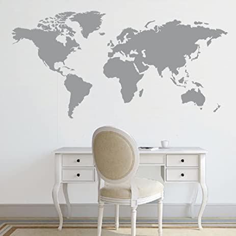 Amazon battoo world map decal large world map vinyl wall battoo world map decal large world map vinyl wall sticker world map wall d gumiabroncs Gallery