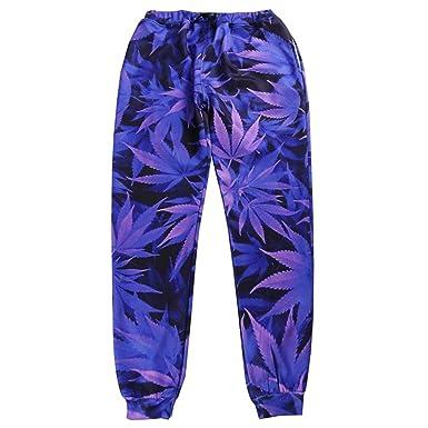 Casual Uomo Donna Streetwear Pantalone lungo Pantalone Purple Leaf Joggers  Pantalone 3D Track Estate Tuta Pantaloni 6dd22337e82a