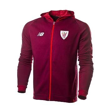 New Balance Chaqueta con Capucha AC Bilbao 2018-2019 Garnet Talla L