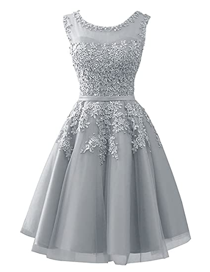 Review Cdress Tulle Short Junior Homecoming Dresses Lace Appliques Prom Dress Evening Gowns
