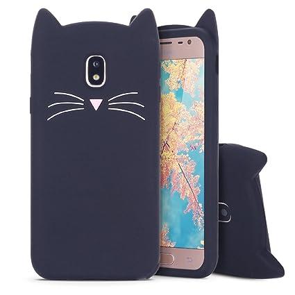 MoEvn Funda para Samsung J5 2017 Carcasa TPU Suave Silicona para Galaxy J5 2017, Case Cover Orejas de Gato Slim Anti Rasguño Protección Funda para ...