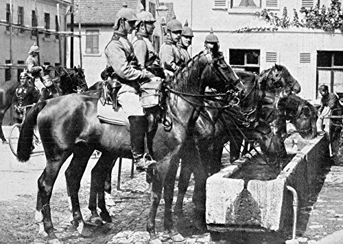 World War I German Army Ngerman Cavalrymen With Helmets Covered For War Were Part Of The Increase In German Forces Just Before The Outbreak Of World War I C1914 Poster Print by (24 x 36)]()