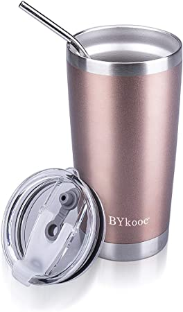 Tobgi Art Stainless Steel Double Metal Cup with Cover