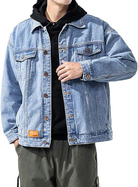 FOMANSH メンズ デニムジャケット Gジャン ジージャン カジュアル ウォッシュ 長袖 綿 ジャケット 大きいサイズ 春