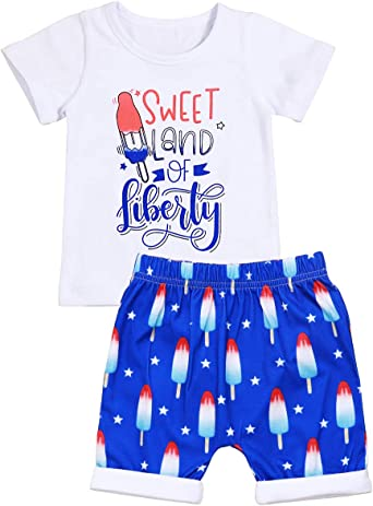 Toddler Baby breathable T-shirt Tops Shorts Pants Outfit Cotton Blend Set Suit