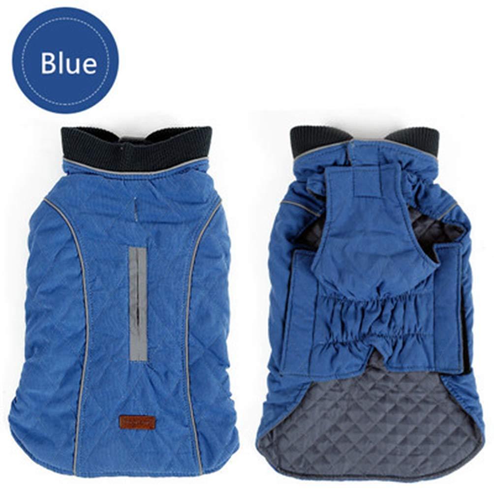 bluee 3XL bluee 3XL Jim Hugh Dog Pet Jacket Vest Winter Coat Retro Design Cozy Winter Warm Pet Outfit Clothes for Dogs 6 colors