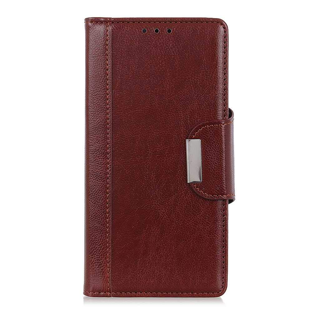 The Grafu Wallet Case for Samsung Galaxy J4 Core, Folding Leather Protective Case, Strong Magnetic Closure Cover with Card Slots and Kickstand, Brown by The Grafu