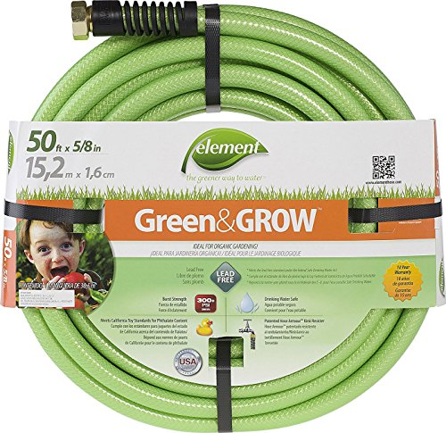 Swan Products ELGG58050 Element Green & Grow Lead Free Gardening Hose 50' x 5/8