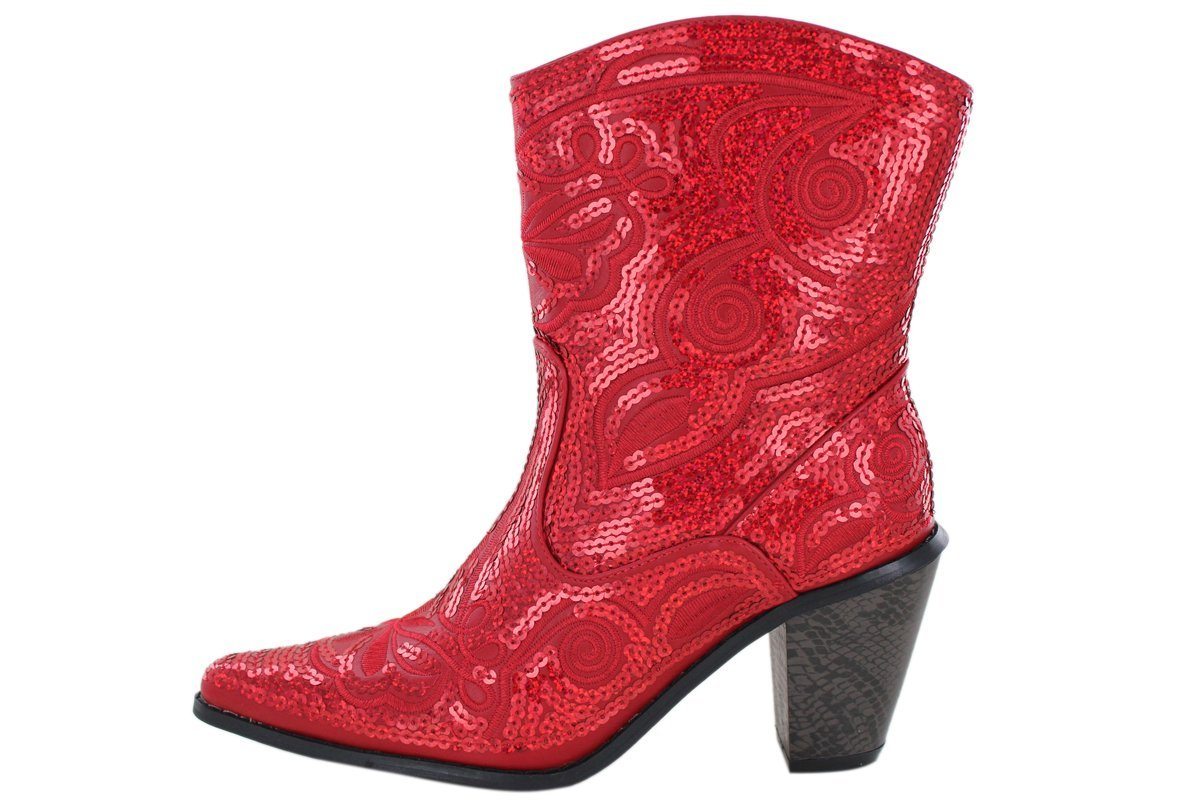 Helens Heart Women's Sparkle Sequin Bling Short Western B(M) Cowgirl Boots B00B04OV8W 11 B(M) Western US|Red c972ce