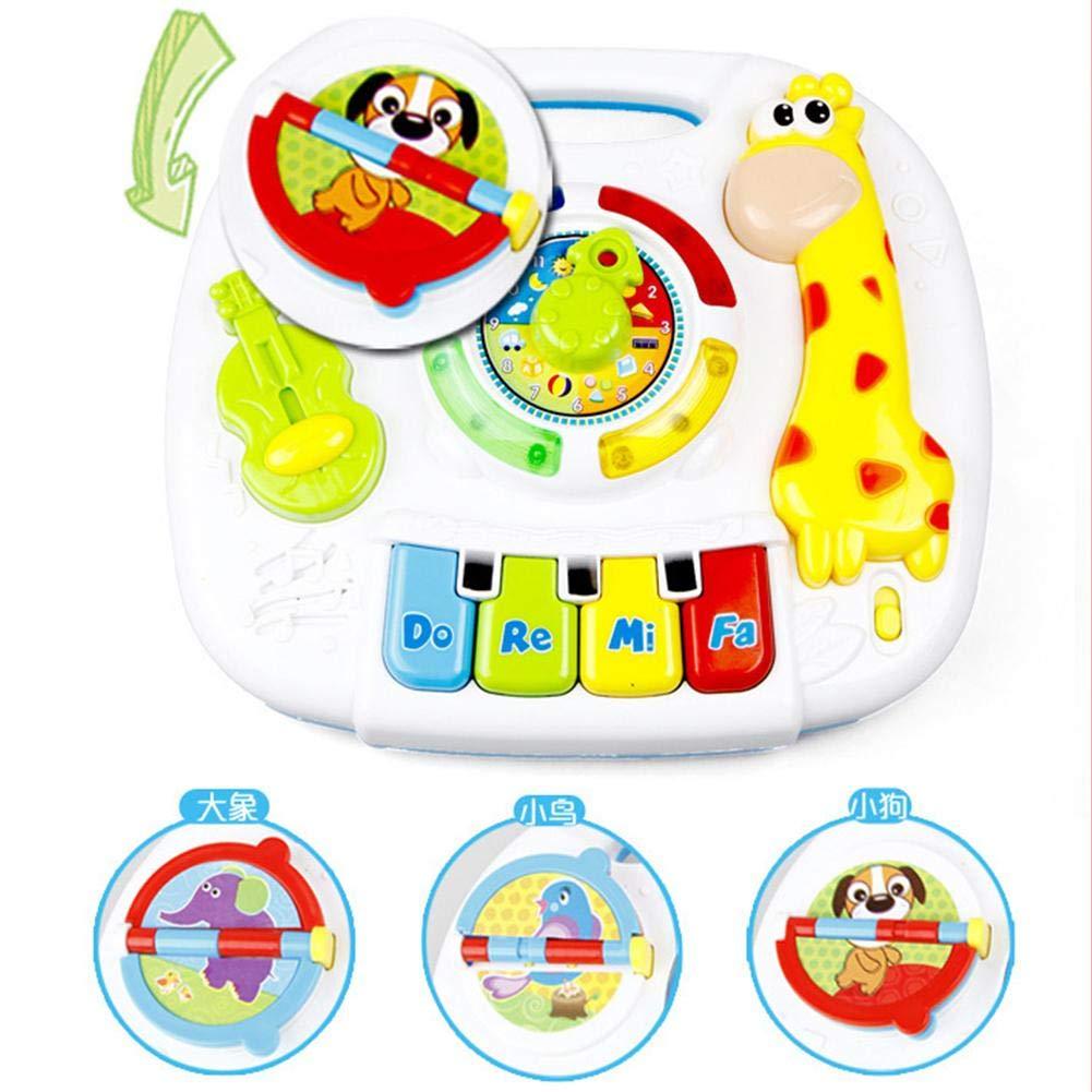 Baby Play Centre d/'activit/és d/'apprentissage pour b/éb/é Table d/'activit/és tactile Table d/'apprentissage assis-debout Table d/'apprentissage musicale pour b/éb/é