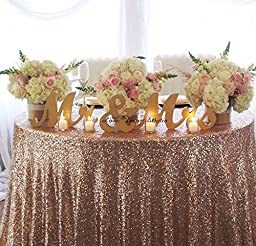 GOLD Mr. & Mrs. letters wedding table decoration, freestanding GOLD Mr and Mrs signs for sweetheart table (7 inches)