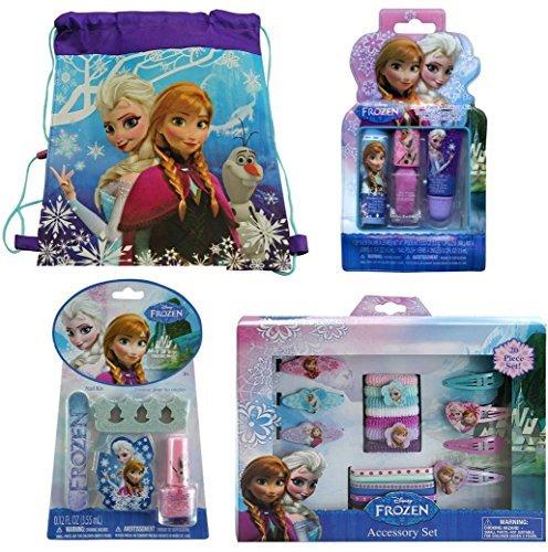 Disney Frozen Non-woven Nylon Sling Bag with Disney Frozen 20 Piece Hair Accessory Set, Disney Frozen Kiss It Paint It Makeup Kit and Disney Frozen Nail Kit by Disney (Image #5)