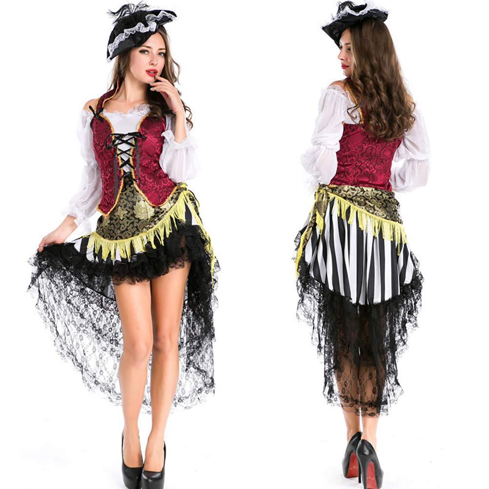 YRE Karneval Erwachsene Piraten-Set, Rolle Spielen Prinzessin Tuxedo, Cosplay Make-up Ballbesitz Dress
