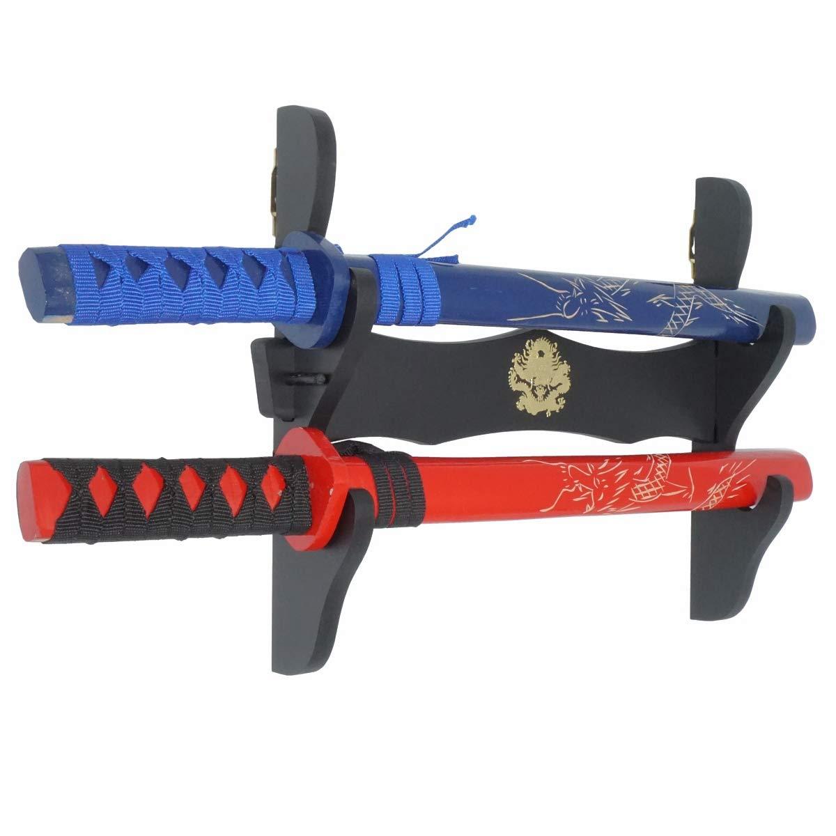 Moumou Soporte de Pared para Espadas de drag/ón Samurai Katana Wakizashi