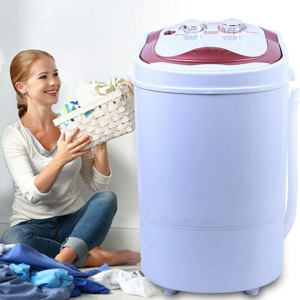 Mini lavadora de viaje de 6 kg, portátil, para camping, con centrifugado para solteros, hogares universitarios, camping