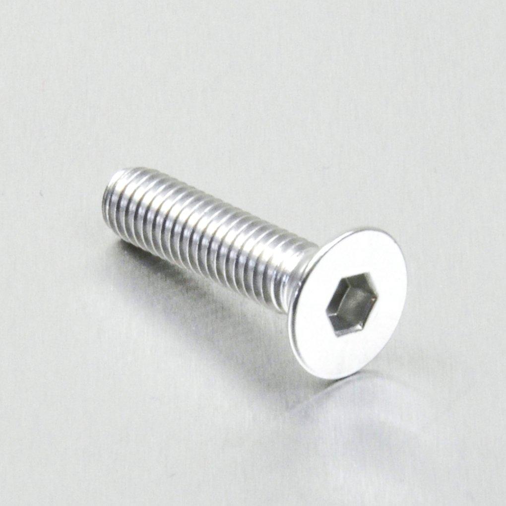 1.00mm Aluminium Countersunk Bolt M6 x x 25mm Orange