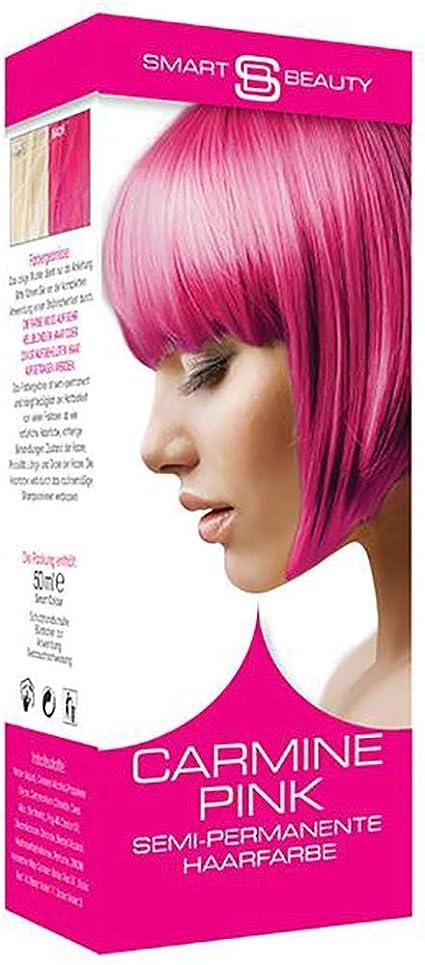 Carmine Rosa Vibrante Tinte Cabello | Semi-Permanente Color Pelo