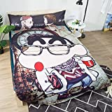 Koongso 3D Animated Movie Print Blanket Bedding Irregular Shaped Summer Quilt Crayon Shin-Chan Comforter Washable Light Quilt