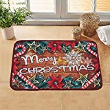 LOCHAS Merry Christmas Area Rug Holiday Decor Stocking Stuffer Xmas Welcome Doormat for Living Dining Dorm Room Bedroom Home, 15.7 X 23.6 Inch