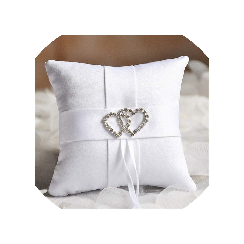 Amazon.com: Cesta de boda con diseño de flores y lazo de ...