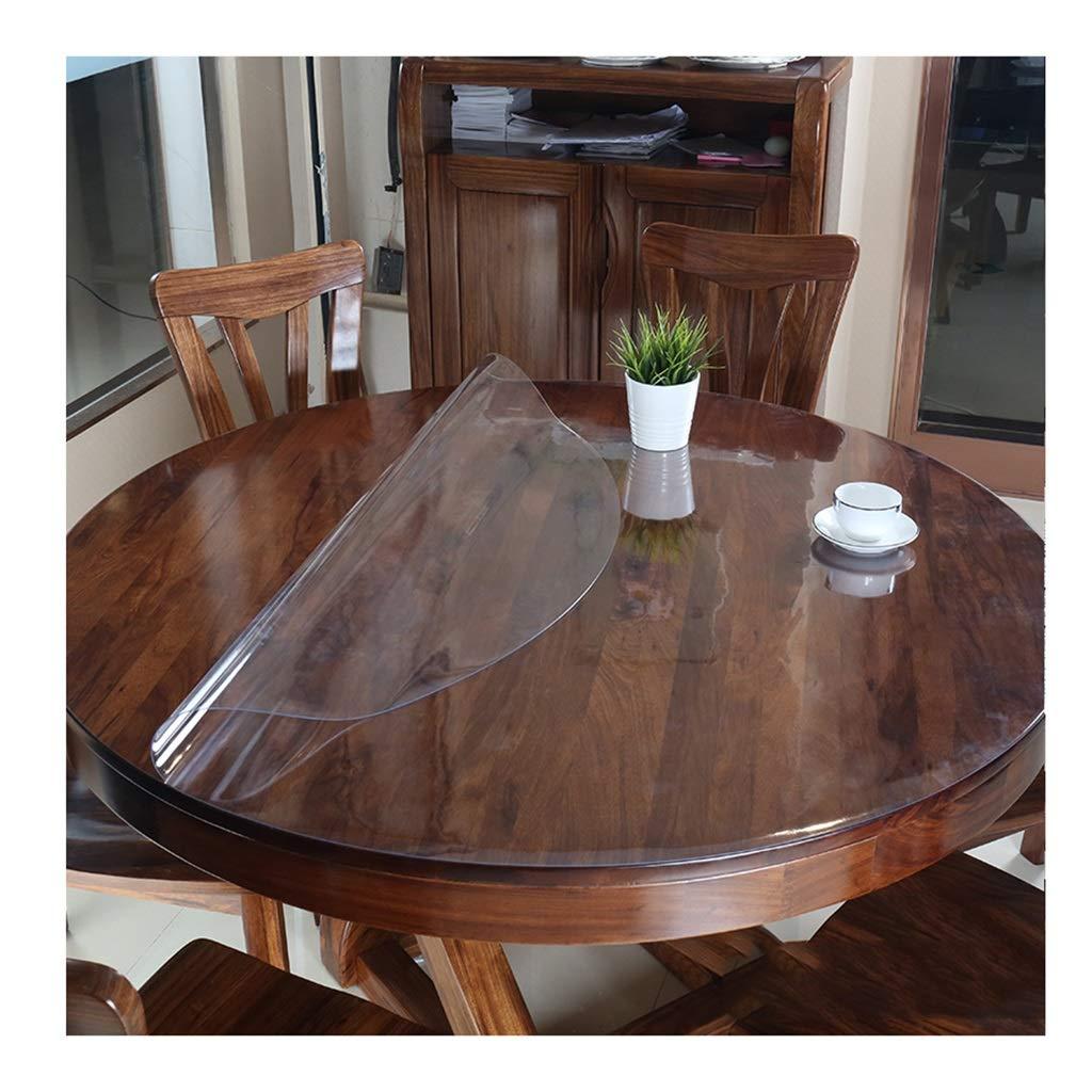 ラウンドテーブルクロス 円形のテーブルクロスの環境に優しい透明なポリ塩化ビニールのテーブルクロスの防水性、耐油性および反焦げ付き防止の布3mmの厚さ テーブルクロス (サイズ さいず : 150cm) 150cm  B07RXWYJHS