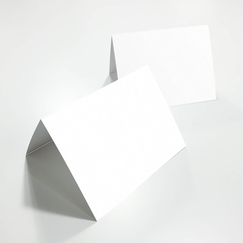 Partycards Lot de 100 cartons de Table pliants pour nom Blanc