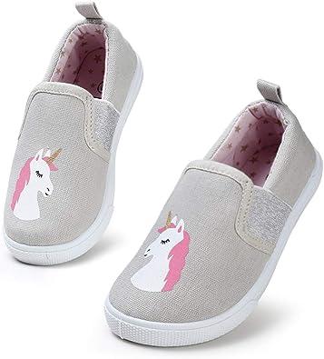 Kids Lightweight Walking Sneakers Slip-on School Running Shoes