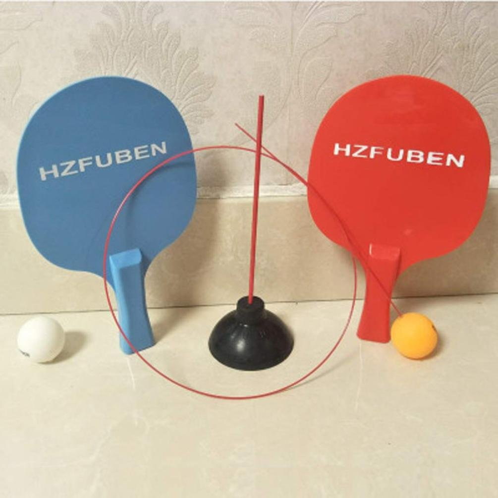 Ikevan Table Tennis Training Equipment,1 Base + 2 Racket + 1 Flexible Shaft (Including Hard Axis) + 2 Table Tennis