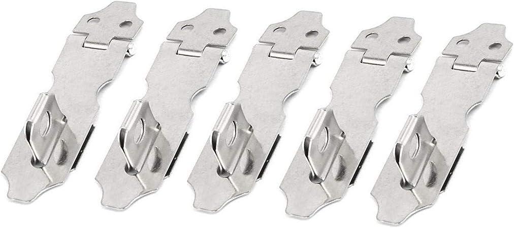 5 Sets Cupboard Drawer Door Safety Stainless Steel Padlock Hasp Staple 73mm