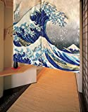 LifEast Japanese Style Noren Curtain Tapestry The Great Wave Off Kanagawa Hokusai