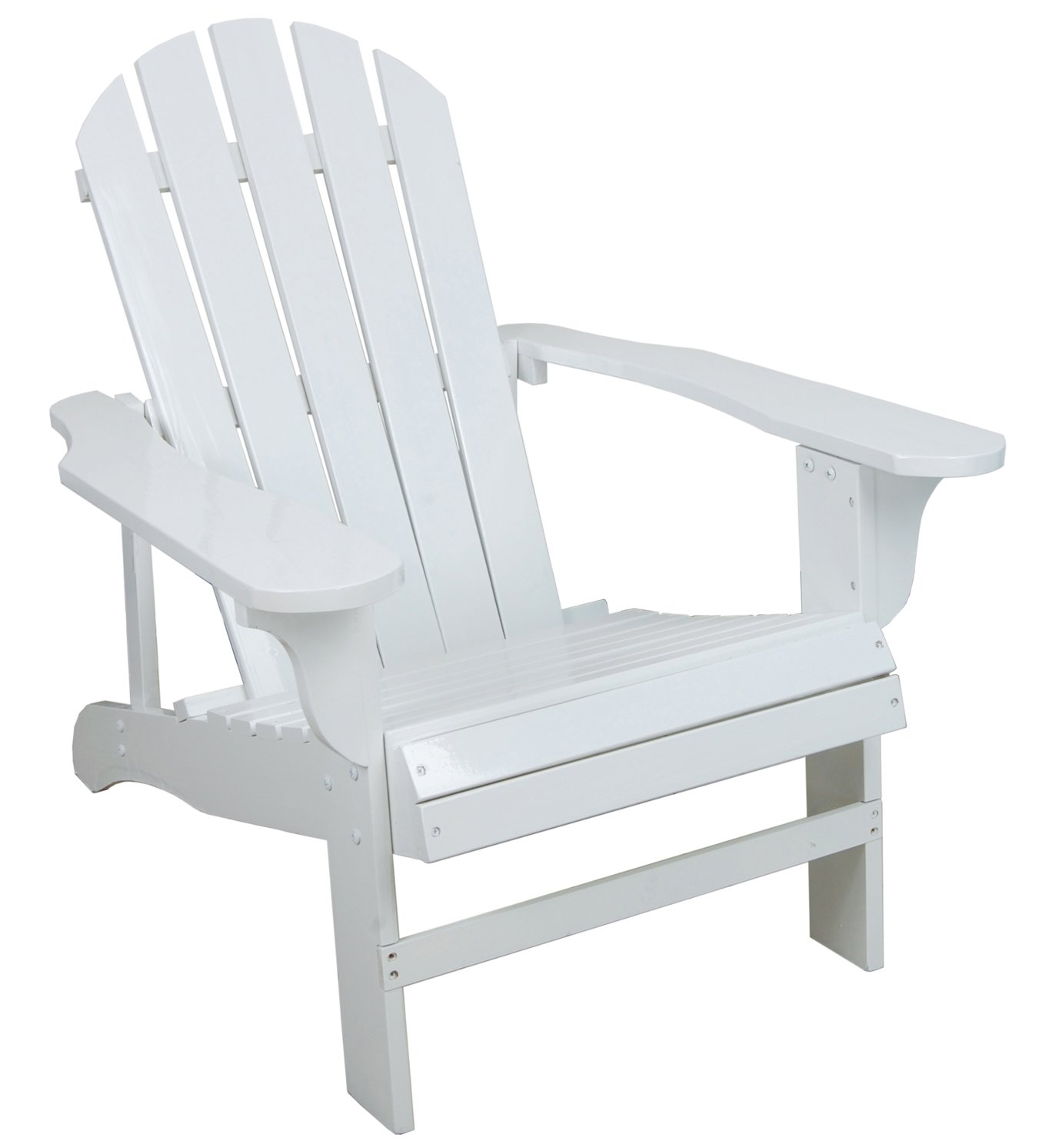 Charmant Amazon.com : Classic White Painted Wood Adirondack Chair : Chaise Lounges  Cushions : Garden U0026 Outdoor