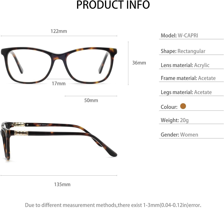 OCCI CHIARI Shining Fashion Acetate Optical Frame Non-Prescription Clear Eyeglasses