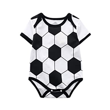 Amazon.com: Yalasga 0-18 Months Unisex Baby Football Soccer Print ...