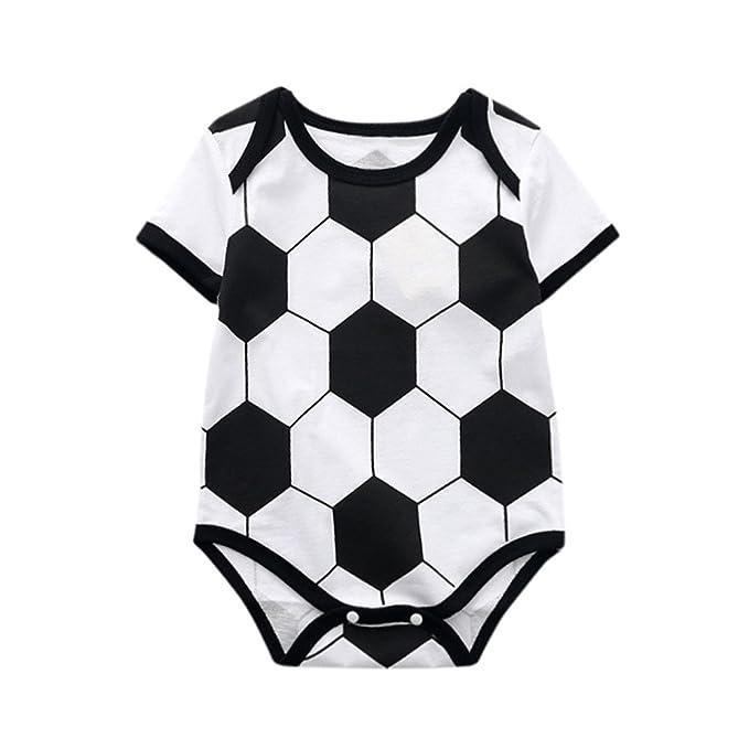 Ropa de Copa del Mundo de Fútbol Ropas Mono Recién Nacido Infantil Bebé Mameluco Tops de