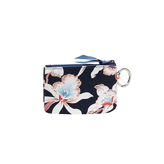 f4accc337211 Leanoria Womens Lanyard with Wallet Zip ID Card Case Badge Holder Office  Lanyards (Dark Blue Flower)