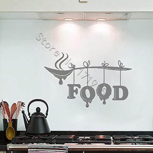 yaoxingfu Tatuajes de Pared Alimentos Palabra Letras Letreros de ...