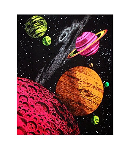 Opticz Galaxy Blacklight Reactive Tapestry