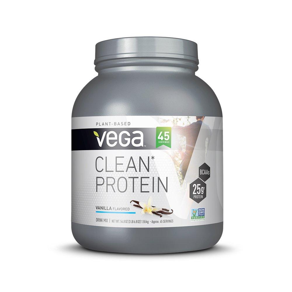 Vega Clean Protein Powder, Vanilla, 3.43lb, 45 Servings