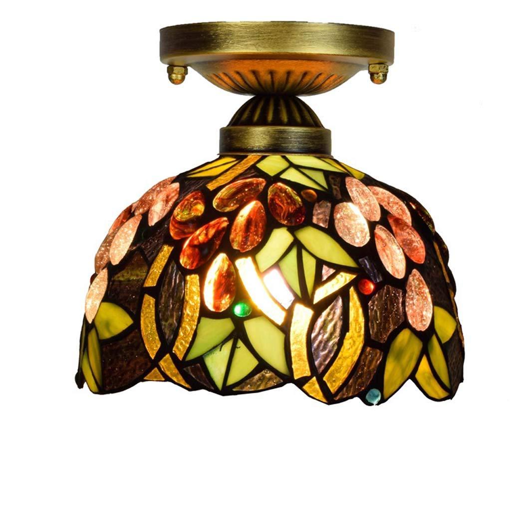 Luces de techo, lámpara de techo Tiffany de 8 pulgadas ...